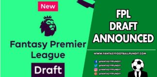 FPL Draft Announced