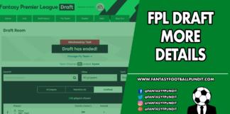 FPL Draft Details