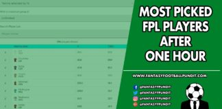 Most Picked FPL Players One Hour