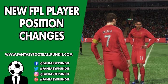 FPL Player Position Changes