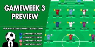 Gameweek 3 Preview