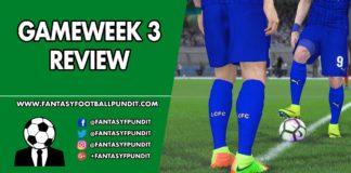 Gameweek 3 Review