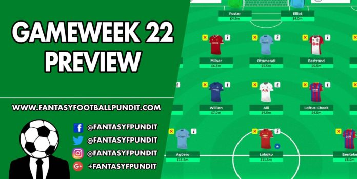 Gameweek 22 Preview