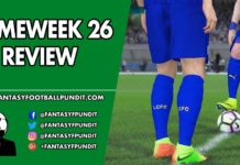 Gameweek 26 Review