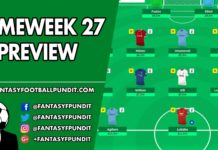 Gameweek 27 Preview