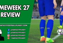 Gameweek 27 Review