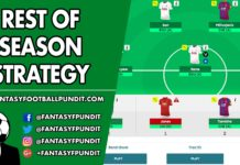 FPL Strategy - Rest of Season