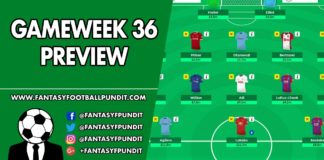 Gameweek 36 Preview