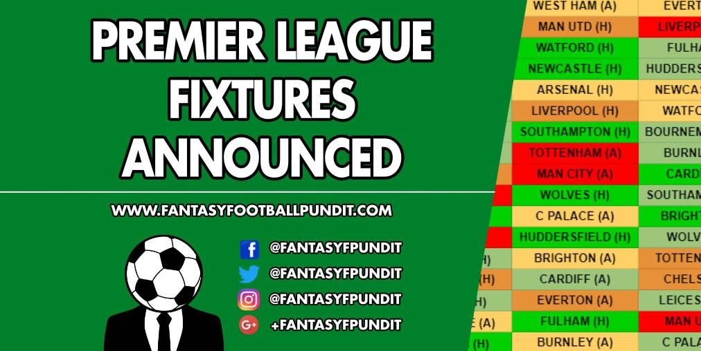 Premier League Fixtures 2018 19