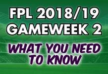 Gameweek 2 Tips