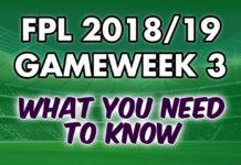 Gameweek 3 Tips