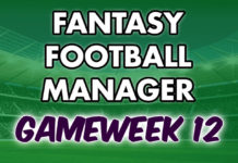 Fantasy Football Manager Gameweek 12