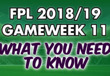 Gameweek 11 Tips