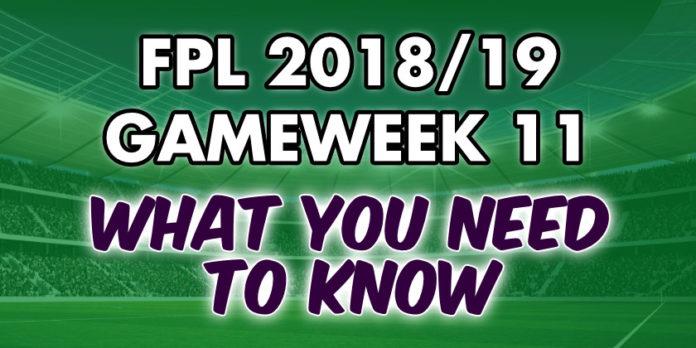 Gameweek 11 Tips