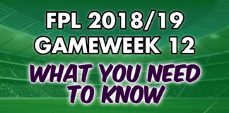 Gameweek 12 Tips