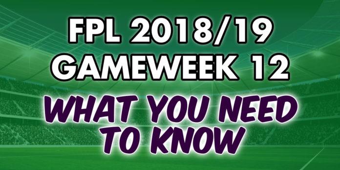 Gameweek 12 Tips