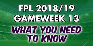Gameweek 13 Tips