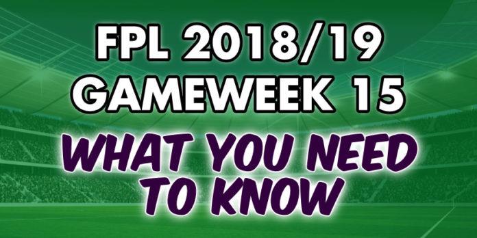 Gameweek 15 Tips