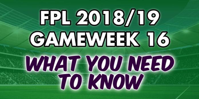 Gameweek 16 Tips