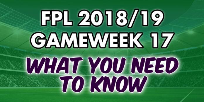 Gameweek 17 Tips