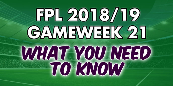 Gameweek 21 Tips
