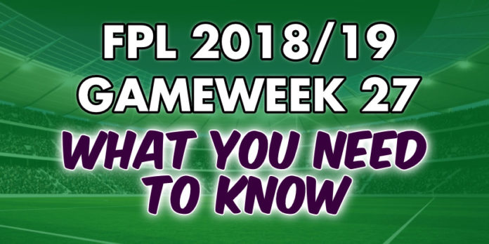Gameweek 27 Tips
