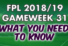 Gameweek 31 Tips