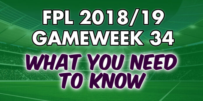 Gameweek 34 Tips