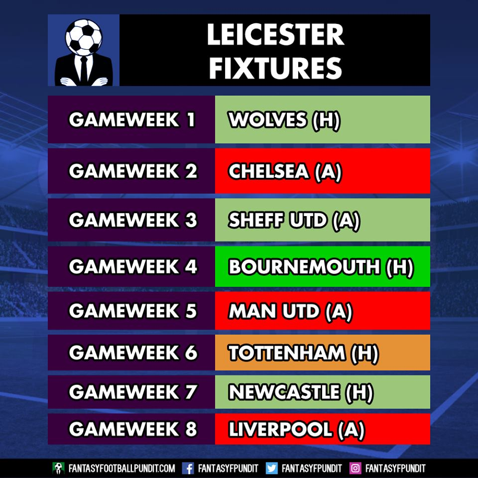 Leicester Fixtures FPL